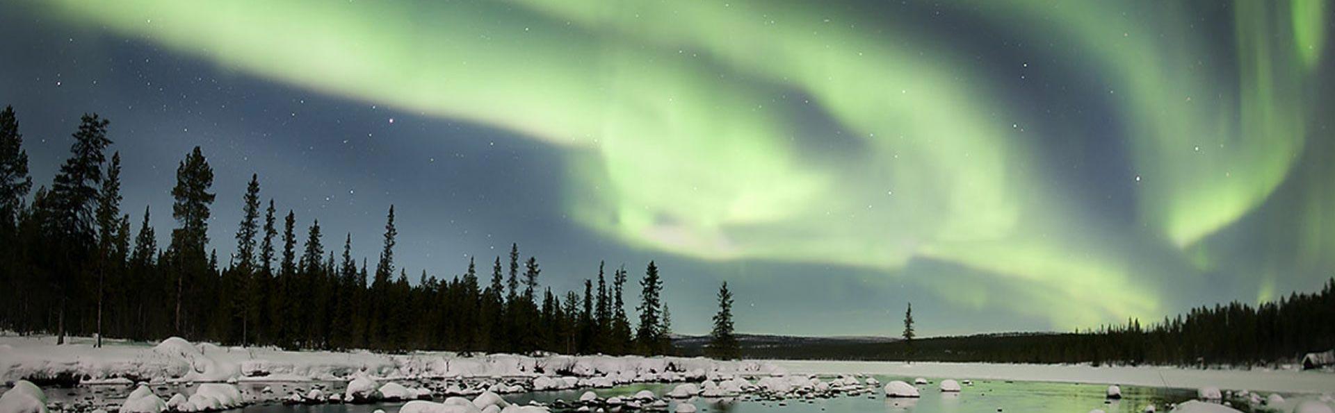 Aurore boreali e grande Nord